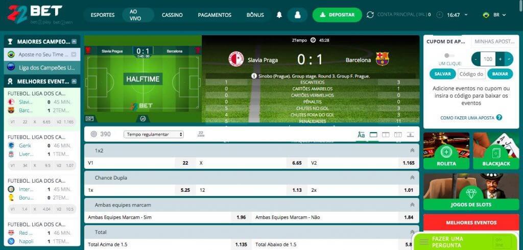 22bet Brasil tem aposta esportiva online ao vivo